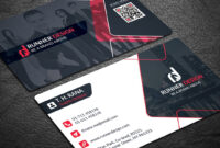 Free Corporate Business Card Photoshop Template with regard to Visiting Card Psd Template