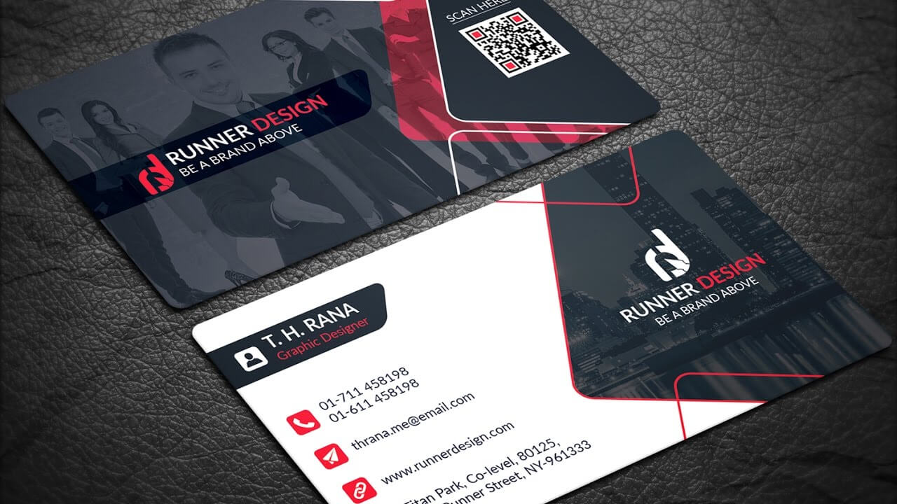 Free Corporate Business Card Photoshop Template with Template Name Card Psd