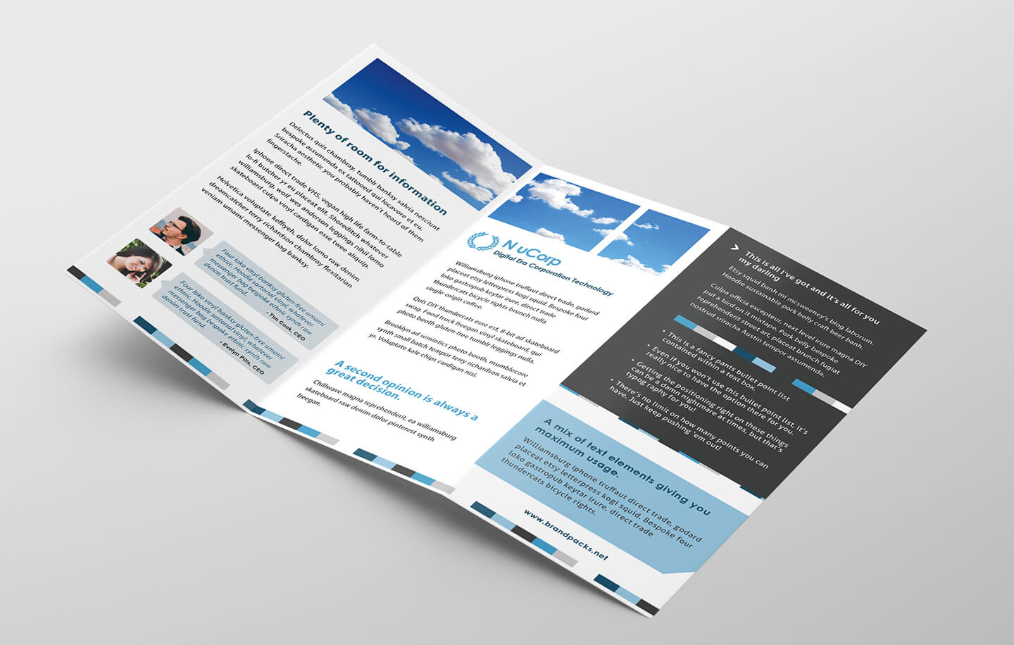 Free Corporate Trifold Brochure Template In Psd, Ai & Vector intended for Fancy Brochure Templates