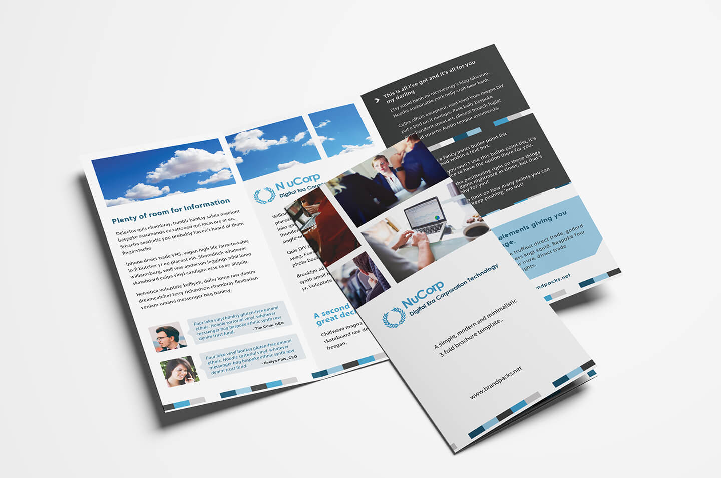 Free Corporate Trifold Brochure Template In Psd, Ai & Vector within 3 Fold Brochure Template Psd Free Download