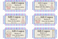 Free Custom Birthday Coupons – Customize Online & Print At Home throughout Coupon Book Template Word