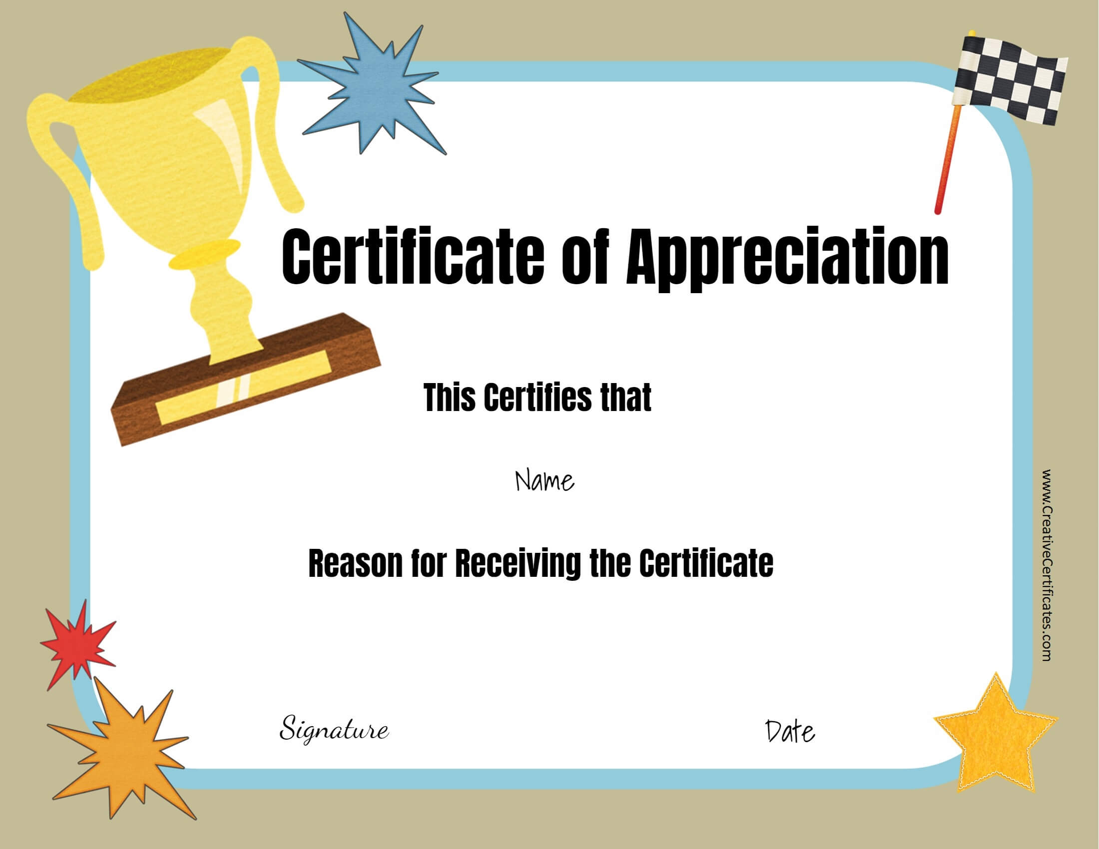 Free Custom Certificate Templates | Instant Download pertaining to Free Funny Certificate Templates For Word