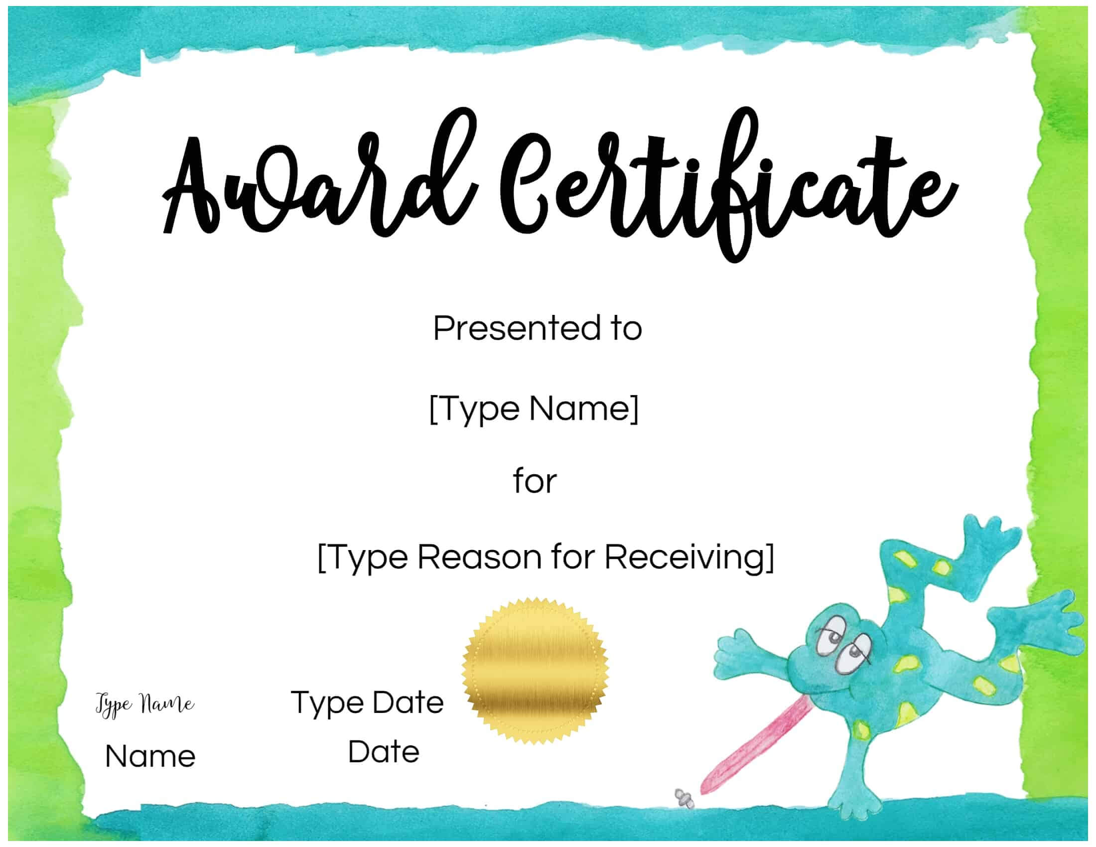 Free Custom Certificates For Kids | Customize Online & Print in Free Printable Certificate Templates For Kids