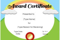 Free Custom Certificates For Kids | Customize Online & Print inside Certificate Of Achievement Template For Kids