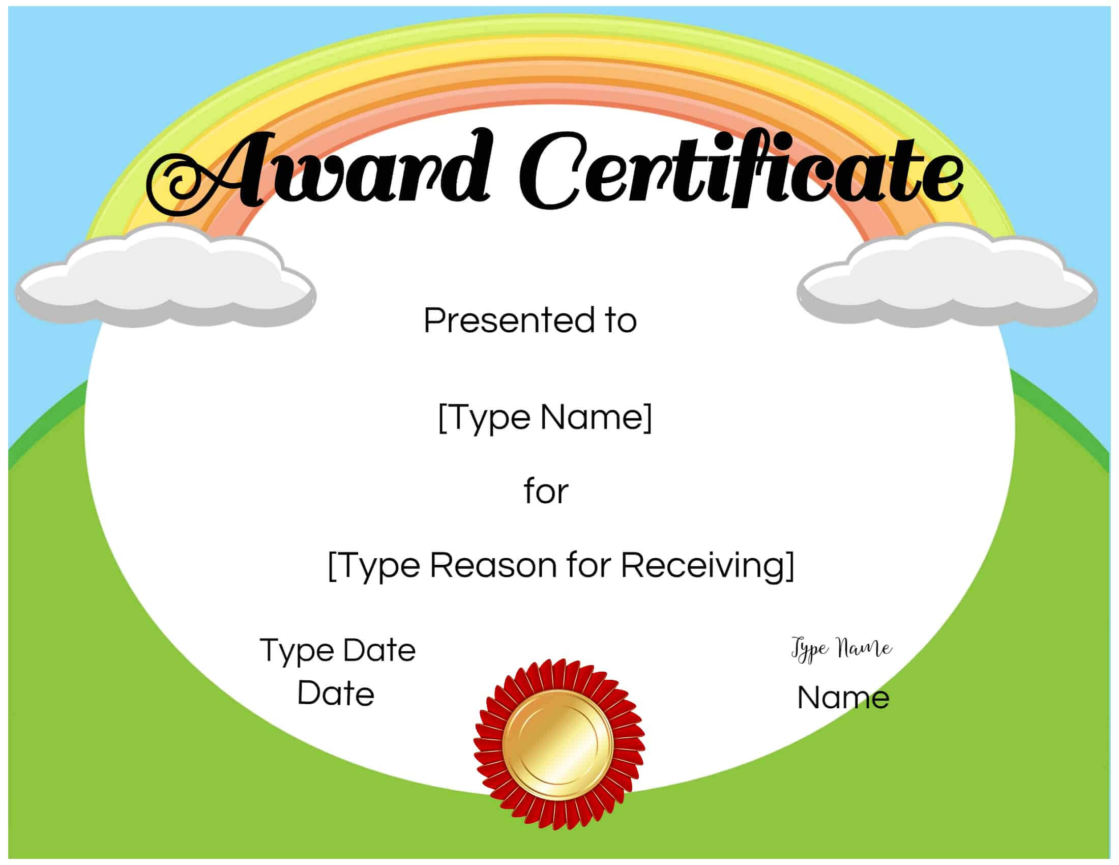 Free Custom Certificates For Kids | Customize Online & Print pertaining to Free Printable Certificate Templates For Kids