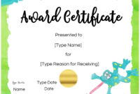 Free Custom Certificates For Kids | Customize Online & Print with Free Kids Certificate Templates