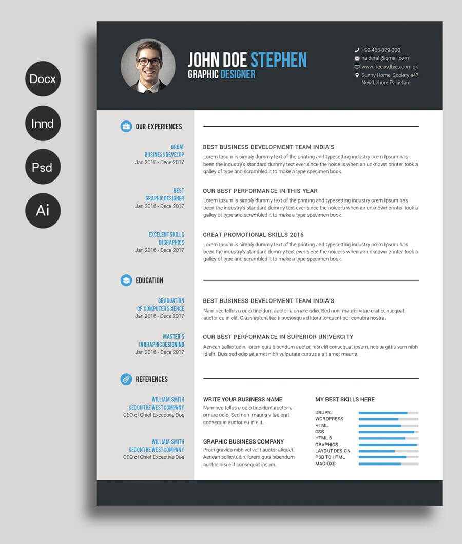 Free Cv Template | Free Cv Template Word, Free Printable With Regard To Free Resume Template Microsoft Word