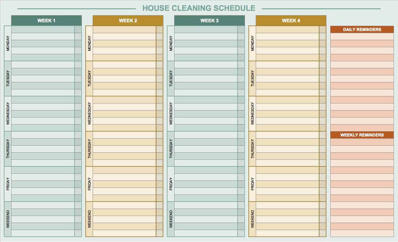 Free Daily Schedule Templates For Excel - Smartsheet inside Employee Daily Report Template