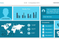 Free Dashboard Templates – regarding Powerpoint Dashboard Template Free