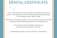 Free Dental Medical Certificate Sample | Free Dental, Dental for Free Fake Medical Certificate Template
