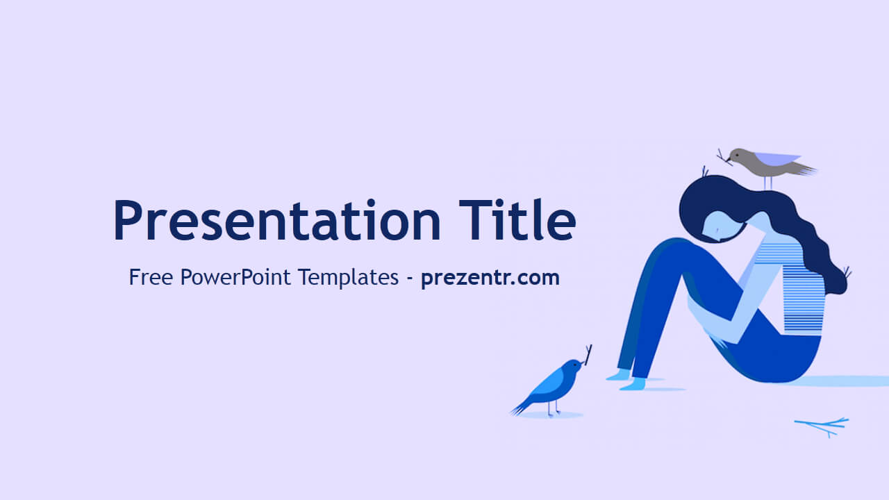 Free Depression Powerpoint Template - Prezentr Powerpoint In Depression Powerpoint Template
