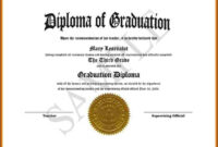 Free Diploma Templates Printable Certificates Pre Sample Of with regard to College Graduation Certificate Template