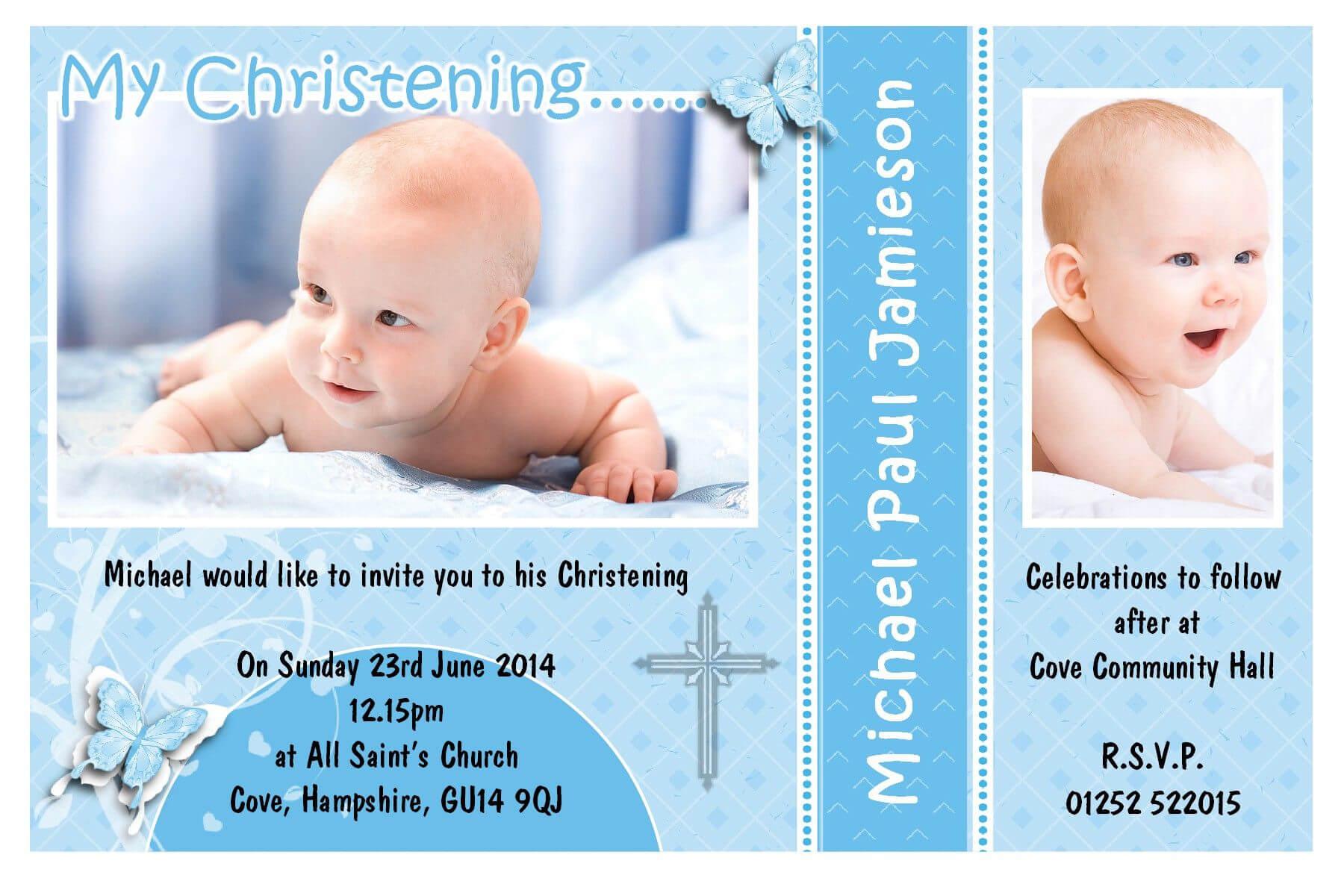 Free Download Baptism Invitation Template | Baptism With Regard To Baptism Invitation Card Template