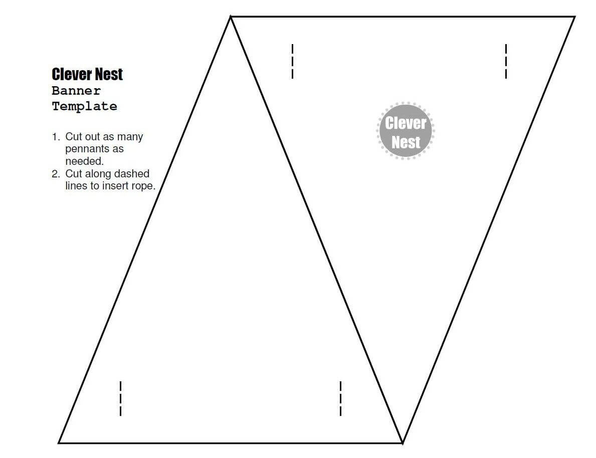 Free Downloadable Bunting Template. Yer Welcome :)   Free Intended For College Banner Template