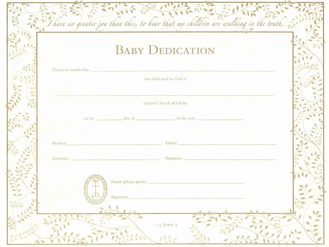 Free Editable Baby Dedication Certificates Unique Baby with regard to Baby Christening Certificate Template