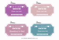Free Editable Love Coupons For Him Or Her with Love Coupon Template For Word