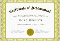 Free Editable Printable Certificates In Word #594 intended for Free Printable Certificate Of Achievement Template