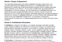 Free Employee Non-Disclosure Agreement (Nda) | Pdf | Word pertaining to Nda Template Word Document