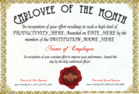 Free Employee Of The Month Certificate Template At in Employee Of The Month Certificate Templates