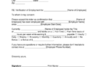 Free Employment (Income) Verification Letter - Pdf   Word in Employment Verification Letter Template Word