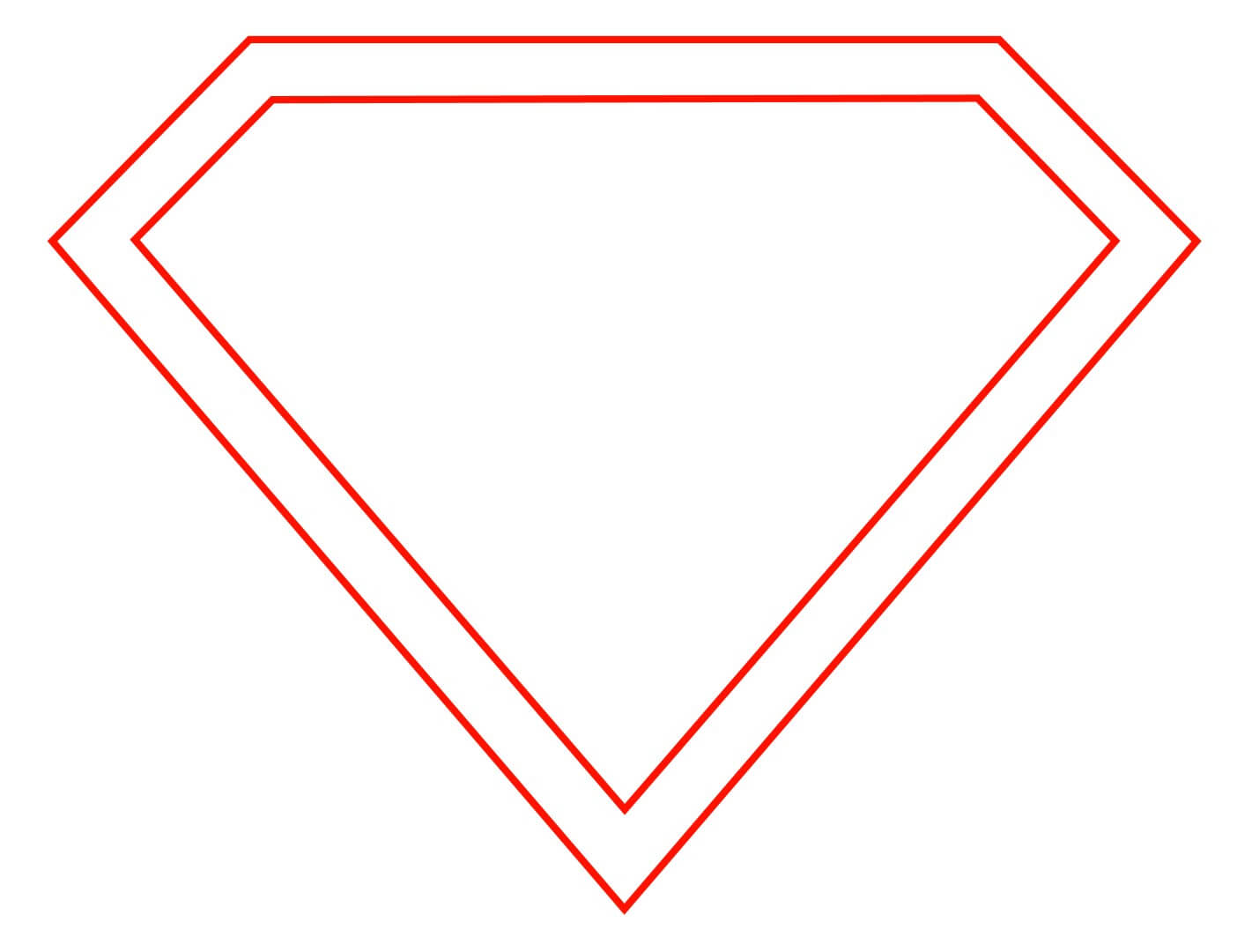 Free Empty Superman Logo, Download Free Clip Art, Free Clip Pertaining To Blank Superman Logo Template