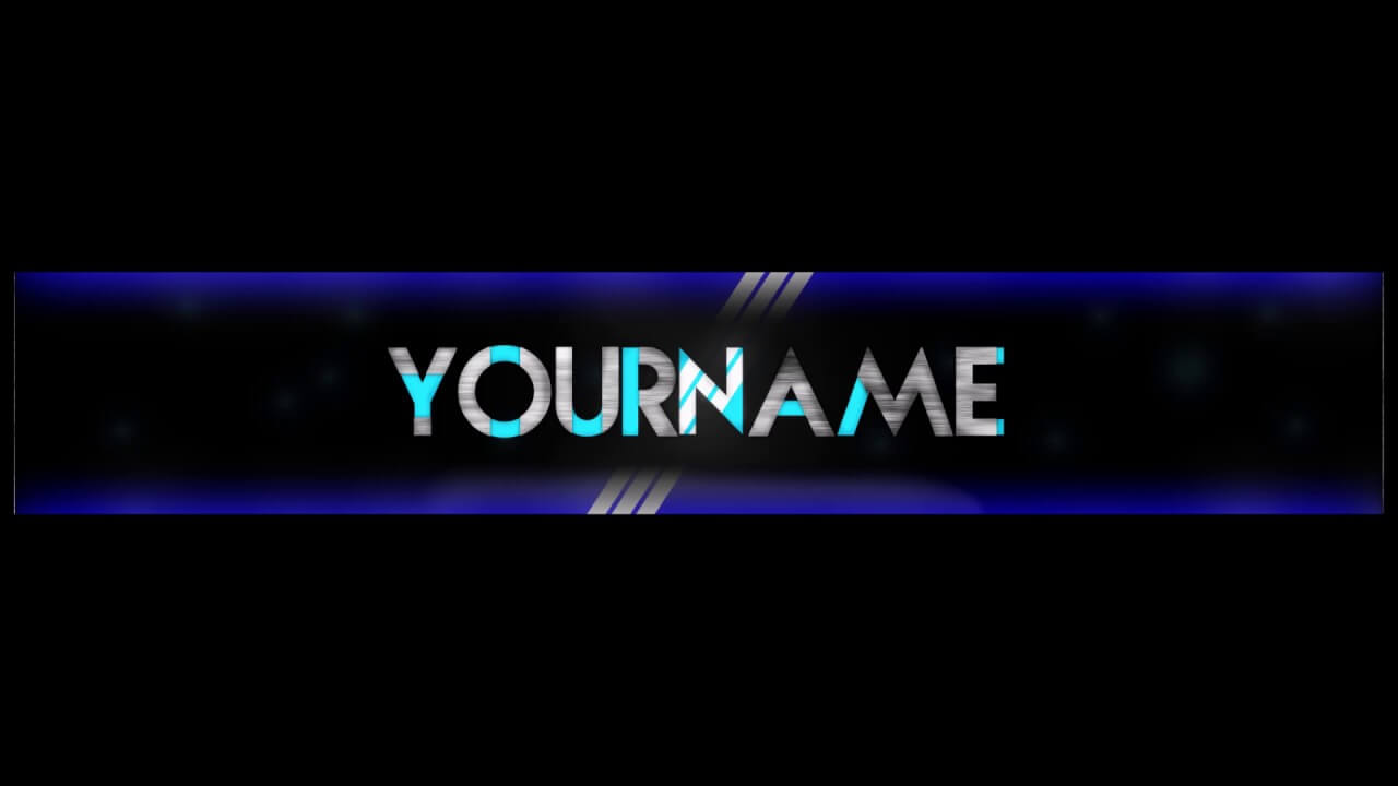 Free, Epic Youtube Banner/channel Art Template - [Gimp] + Download  [Futuristic Style] inside Gimp Youtube Banner Template
