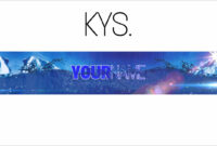 Free, Epic Youtube Banner/channel Art Template – [Gimp] + Download Within Youtube Banner Template Gimp