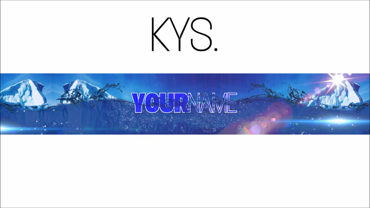 Free, Epic Youtube Banner/channel Art Template - [Gimp] + Download within Youtube Banner Template Gimp