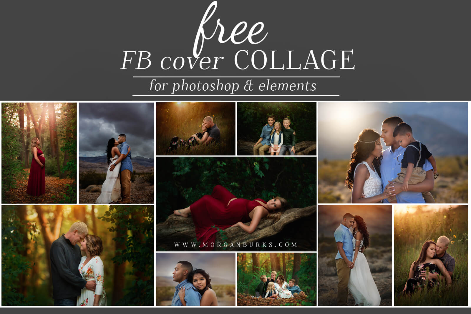 Free Facebook Cover Photo Template For Photoshop  Morgan Burks Throughout Photoshop Facebook Banner Template