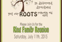 Free Family Reunion Template – Javestuk intended for Reunion Invitation Card Templates