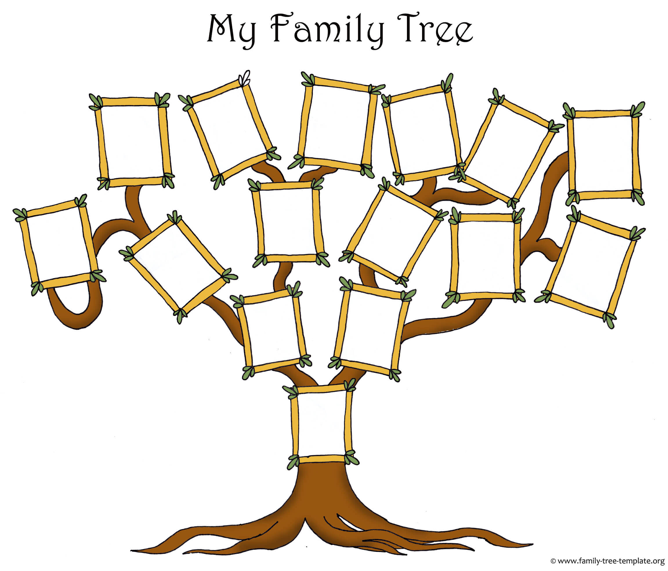 Free Family Tree Template Designs For Making Ancestry Charts Regarding Fill In The Blank Family Tree Template