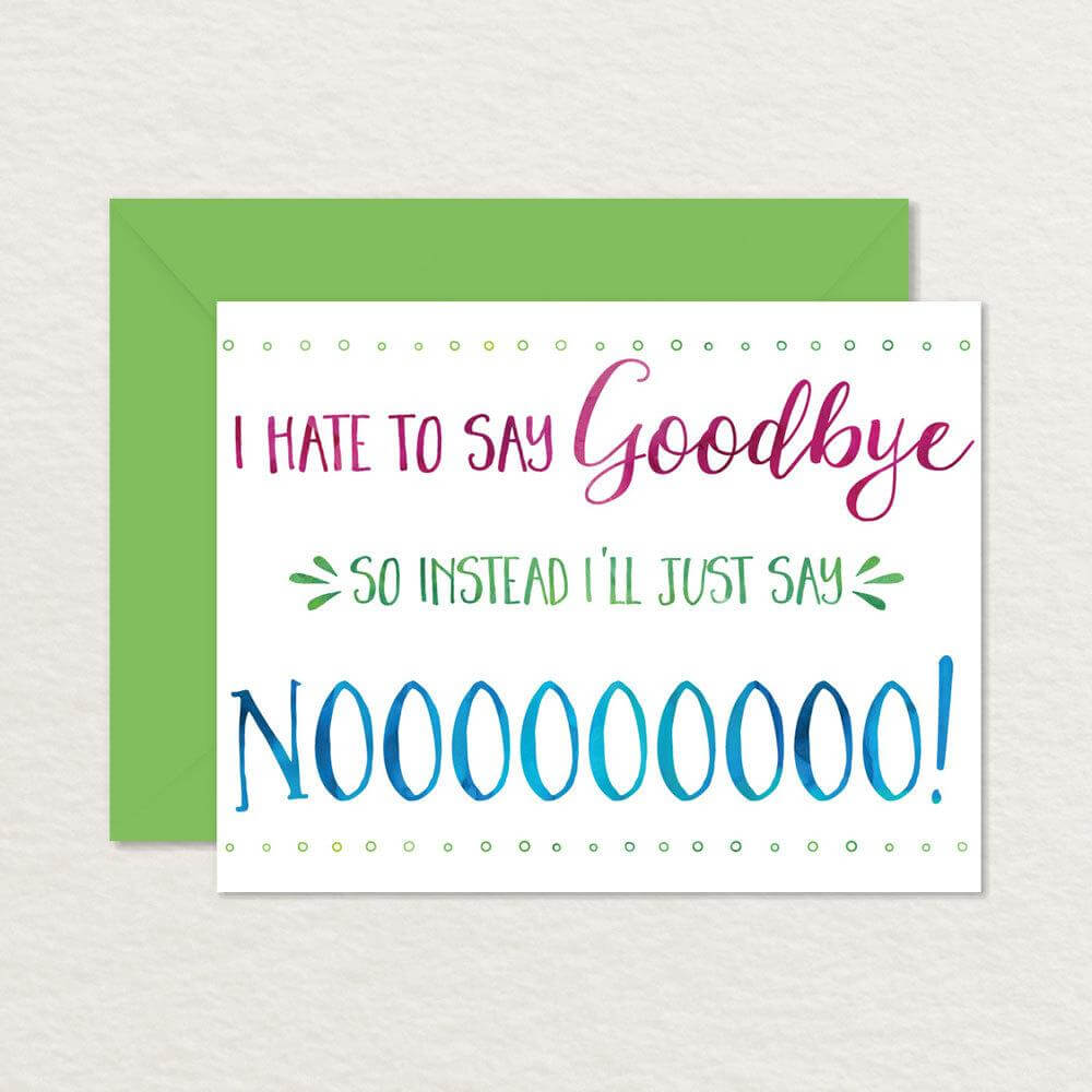 Free Farewell Card Template – Top Image Gallery Site Within regarding Goodbye Card Template