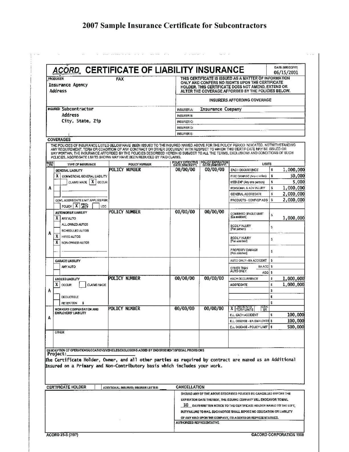 Free Fillable Acord Forms - Climatejourney regarding Chiropractic Travel Card Template