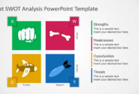 Free Flat Swot Analysis Presentation Template intended for Swot Template For Word