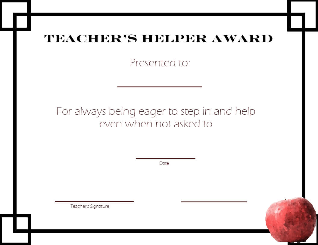 Free Formatted Student Certificate Awards Printable Paper Regarding Free Student Certificate Templates