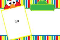 Free Free Printable Elmo Birthday Invitations | Bagvania in Elmo Birthday Card Template