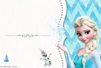 Free Frozen Birthday Invitation Templates | Free Printable regarding Frozen Birthday Card Template