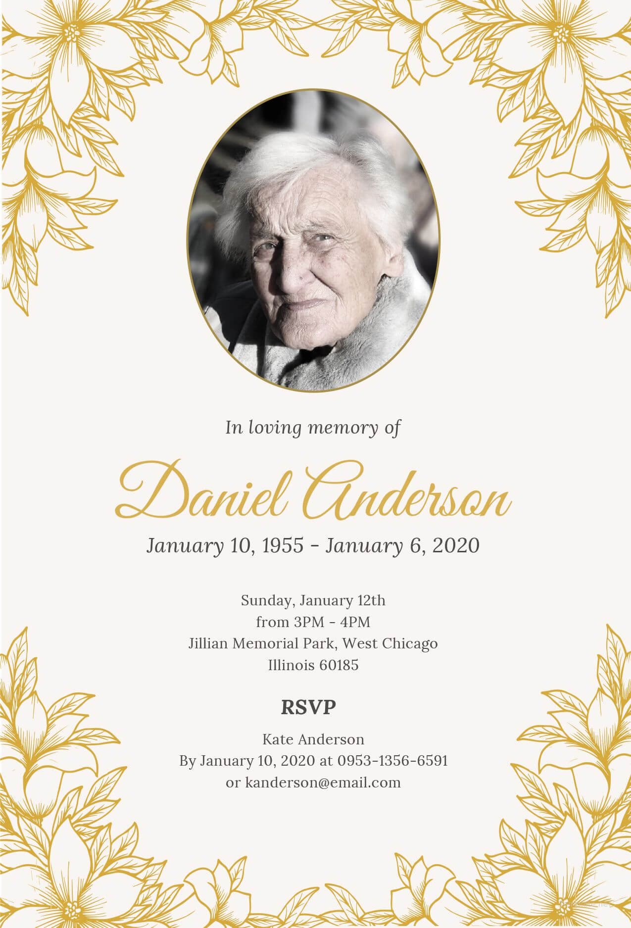 Free Funeral Ceremony Invitation | Funeral Invitation, Free Throughout Funeral Invitation Card Template