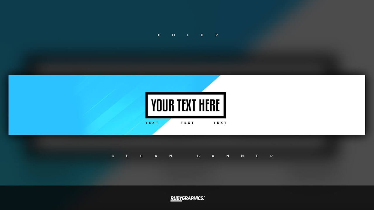Free Gfx: Free Photoshop Banner Template: Clean 2D Custom Colors Banner  Design Inside Adobe Photoshop Banner Templates
