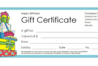 Free Gift Certificate Templates You Can Customize for Company Gift Certificate Template