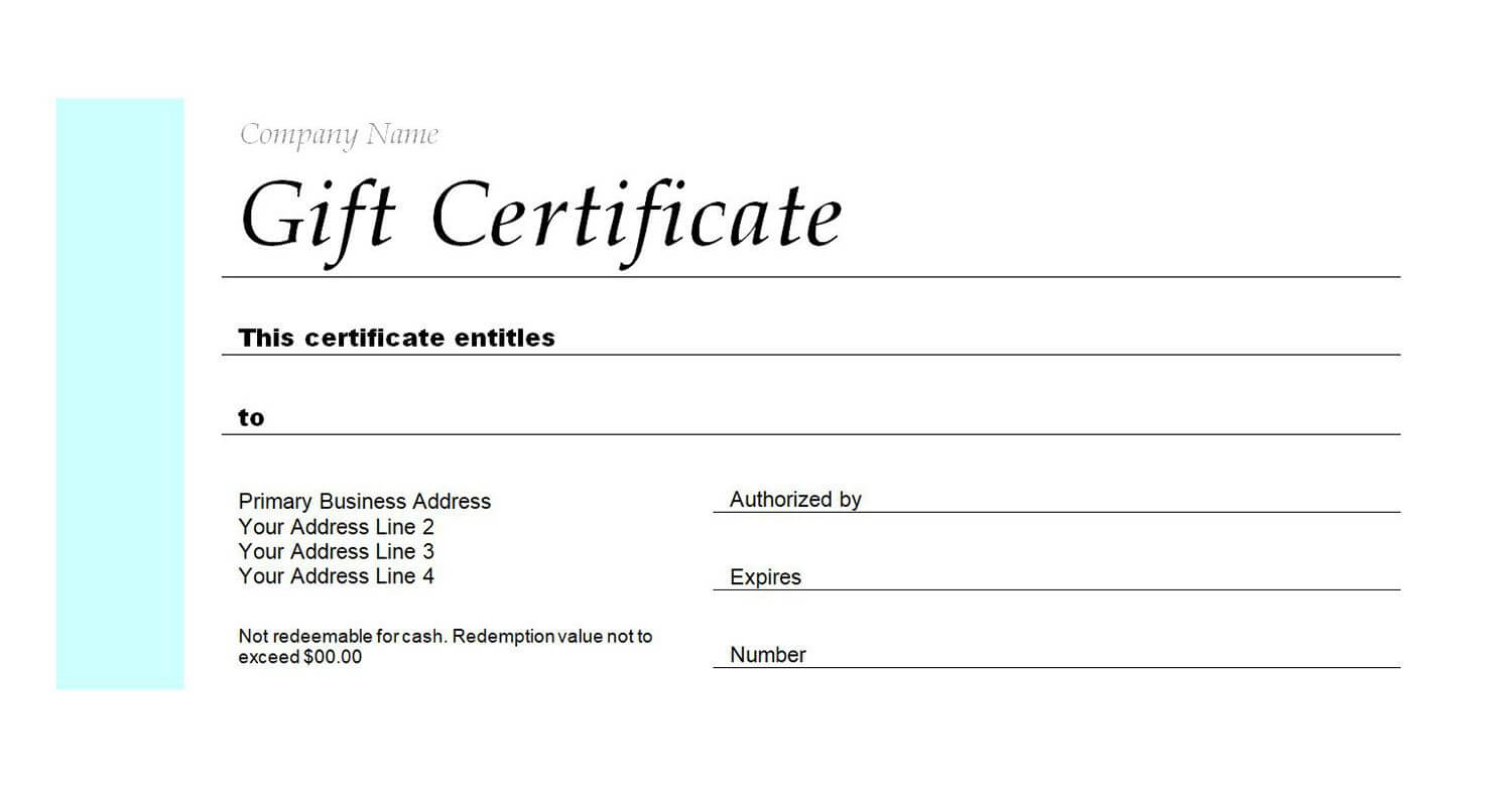 Free Gift Certificate Templates You Can Customize For Restaurant Gift Certificate Template