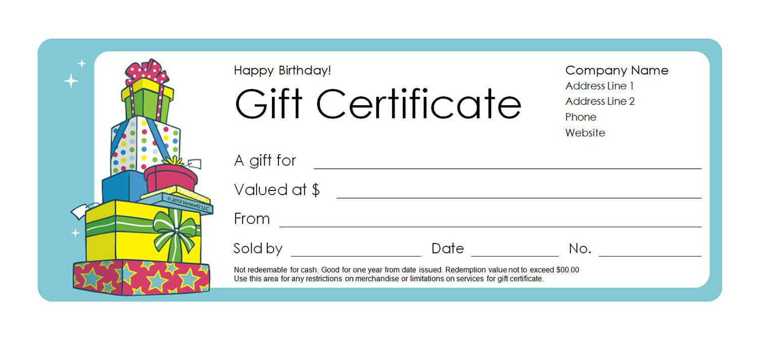Free Gift Certificate Templates You Can Customize With Regard To Fillable Gift Certificate Template Free