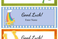 Free Good Luck Cards For Kids | Customize Online & Print At Home regarding Good Luck Card Templates