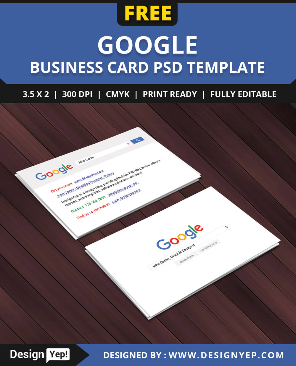 Free Google Interface Business Card Psd Template On Behance In Google Search Business Card Template
