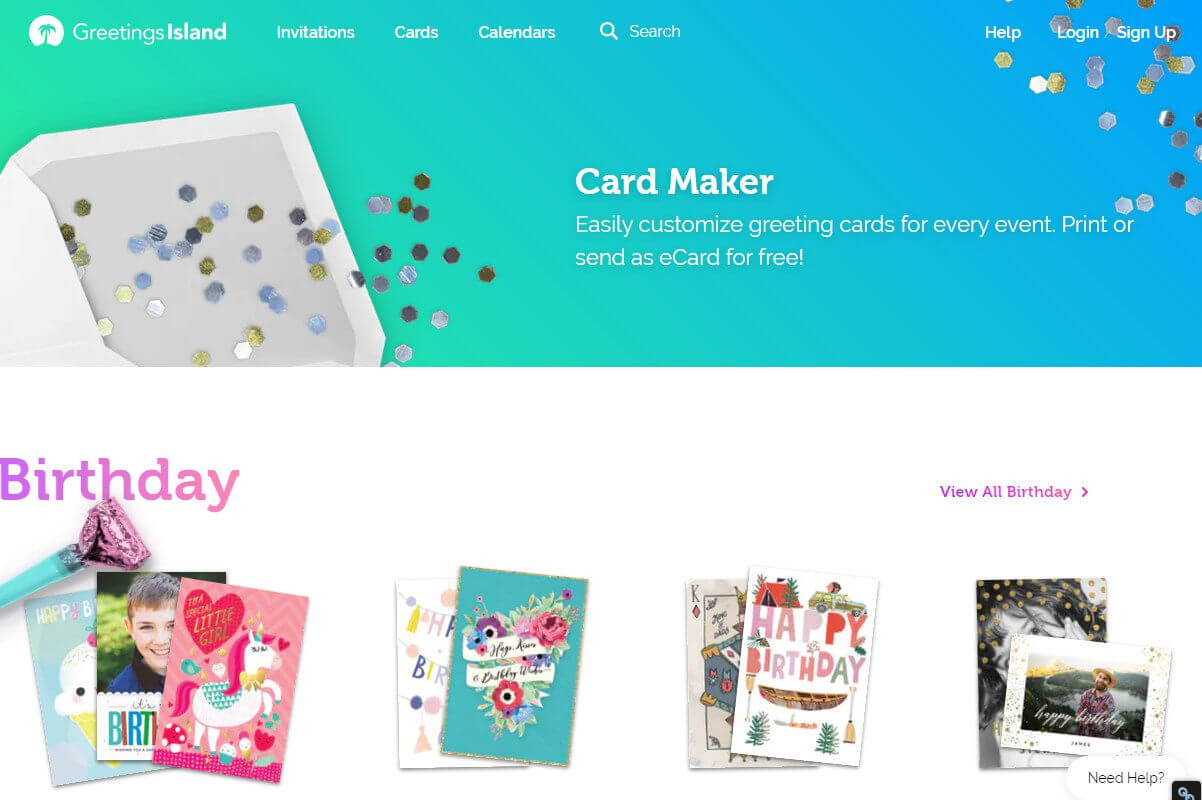 Free Greeting Card Templates For All Occasions regarding Quarter Fold Birthday Card Template