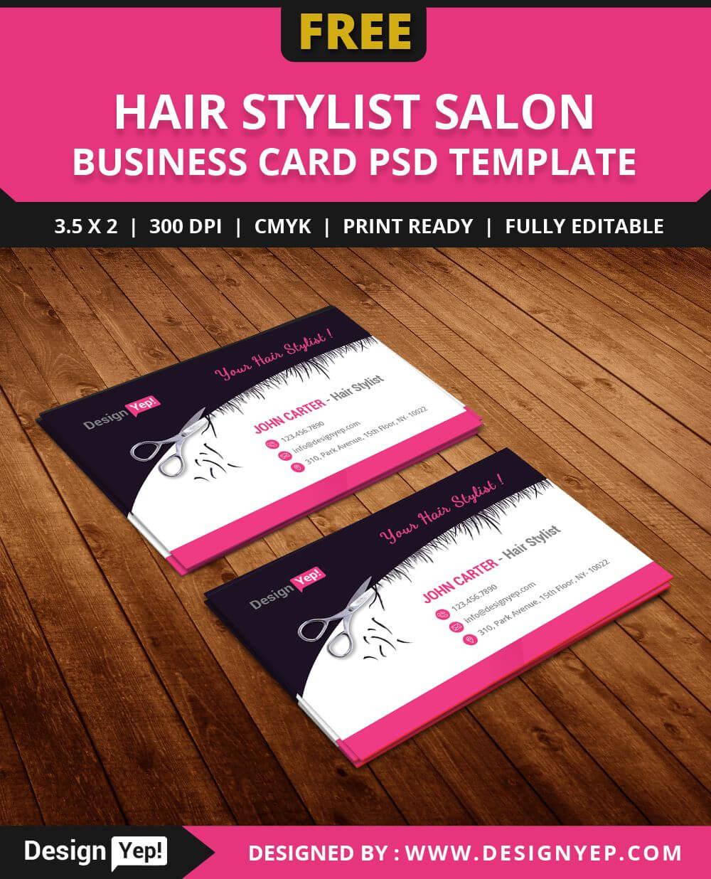 Free-Hair-Stylist-Salon-Business-Card-Template-Psd   Free throughout Hair Salon Business Card Template