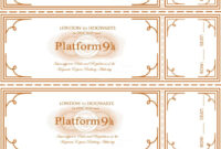 Free Harry Potter Hogwarts Express Ticket Template Plus intended for Blank Train Ticket Template