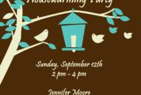 Free Housewarming Invitations Ideas | Little Bird Brown With Free Housewarming Invitation Card Template