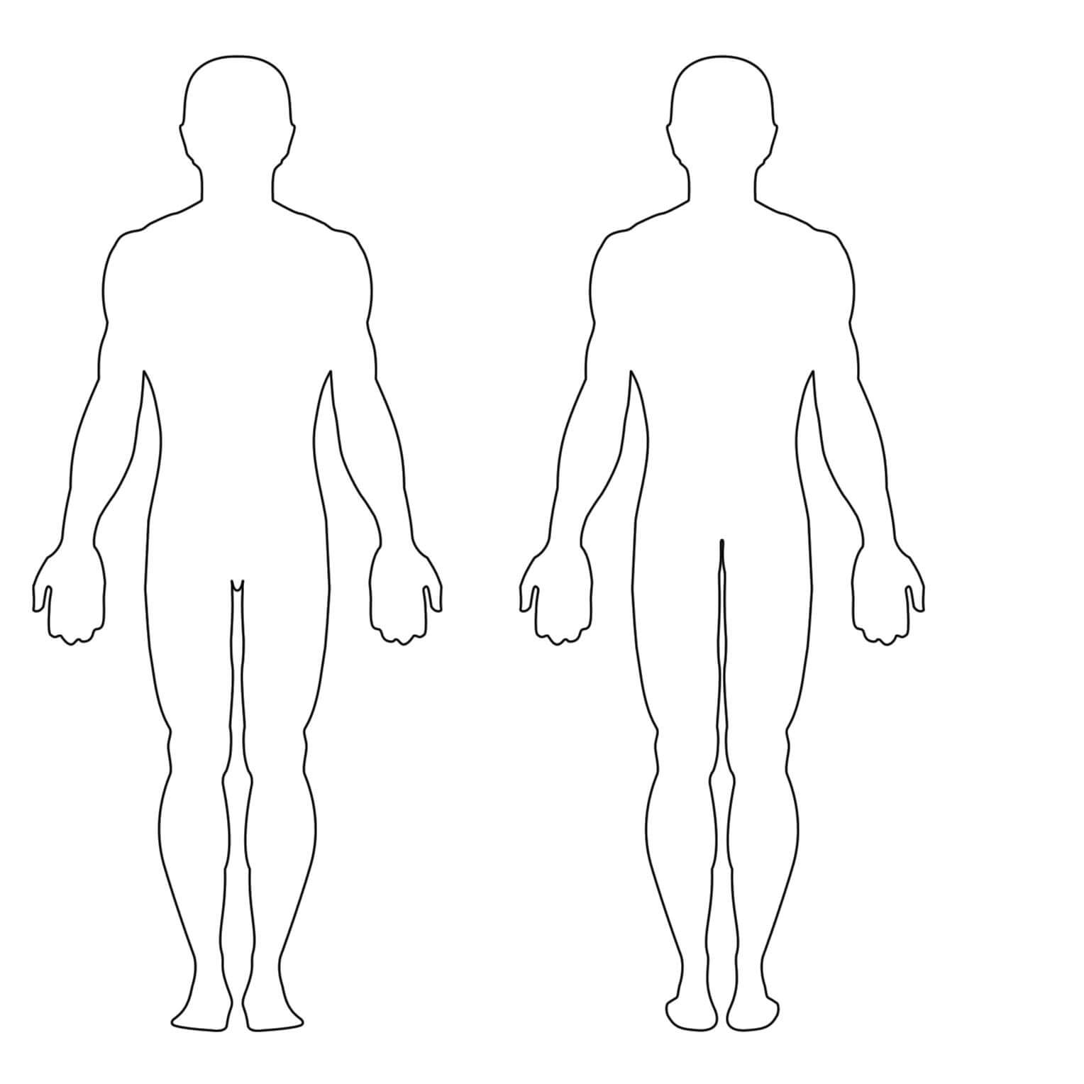 Free Human Body Outline Printable, Download Free Clip Art With Blank Body Map Template