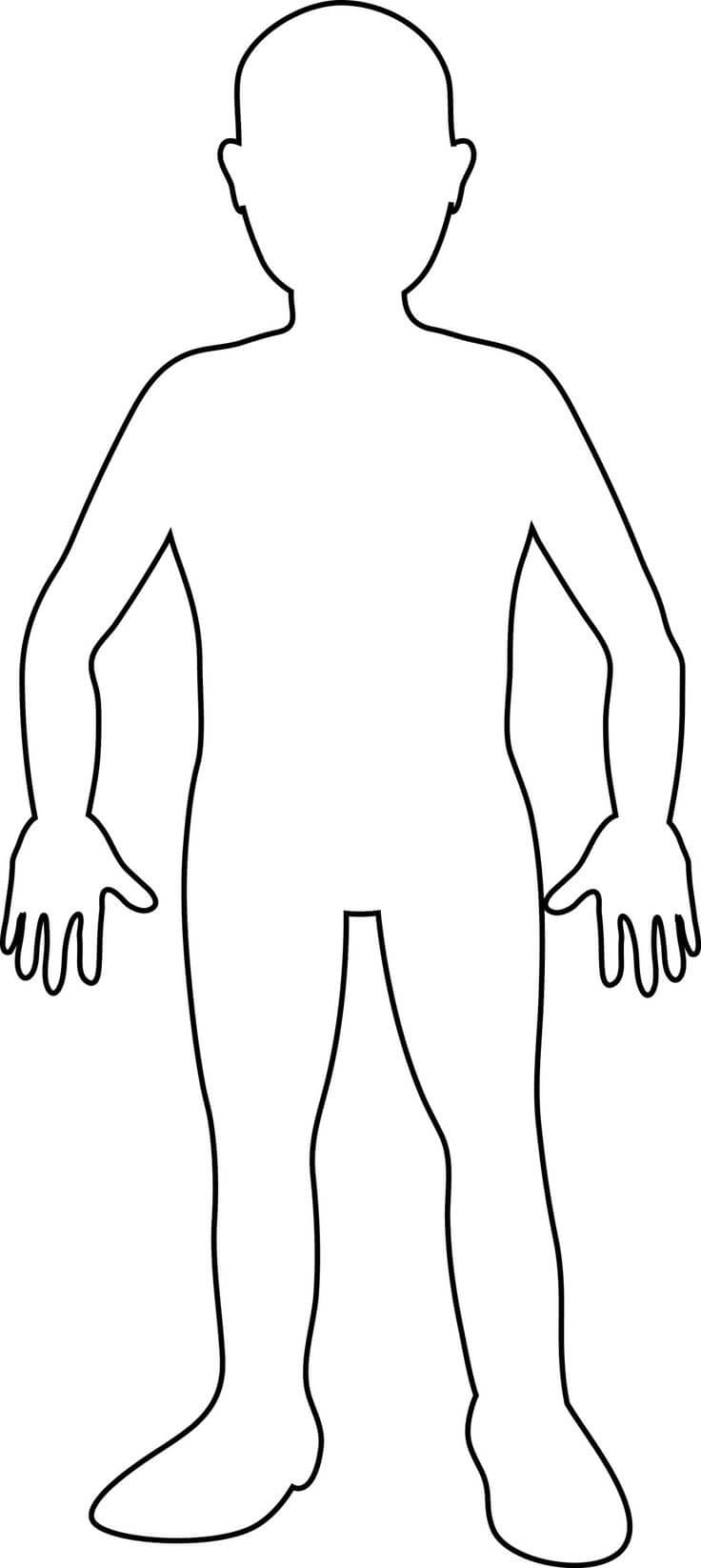 Free Human Body Outline Printable, Download Free Clip Art Within Blank Body Map Template